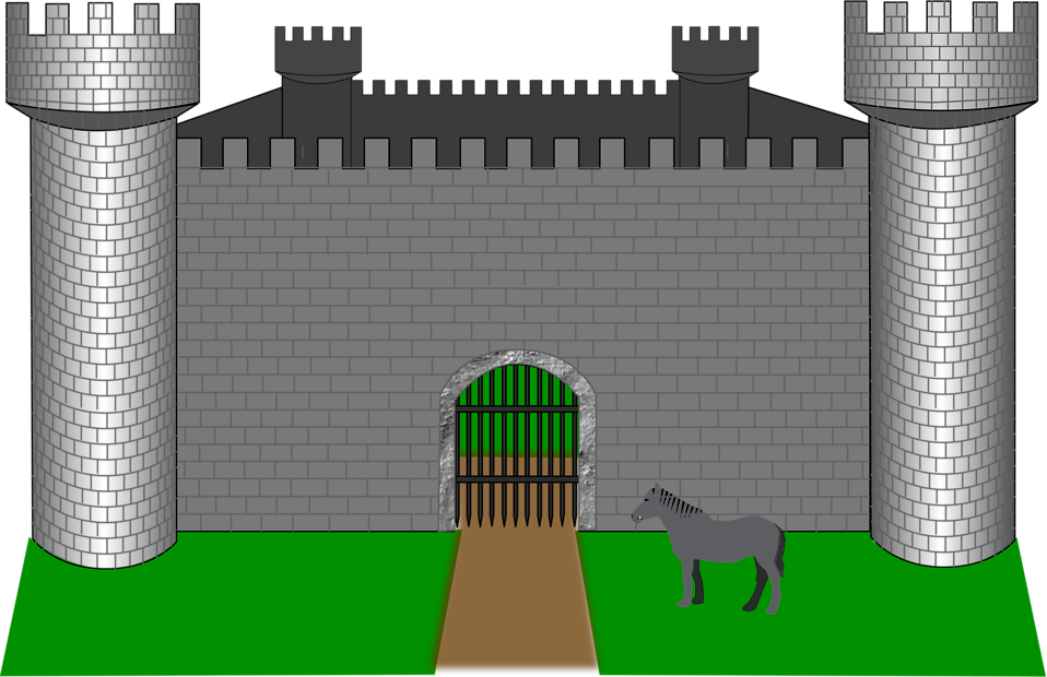 Illustration of a medieval castle : Free Stock Photo