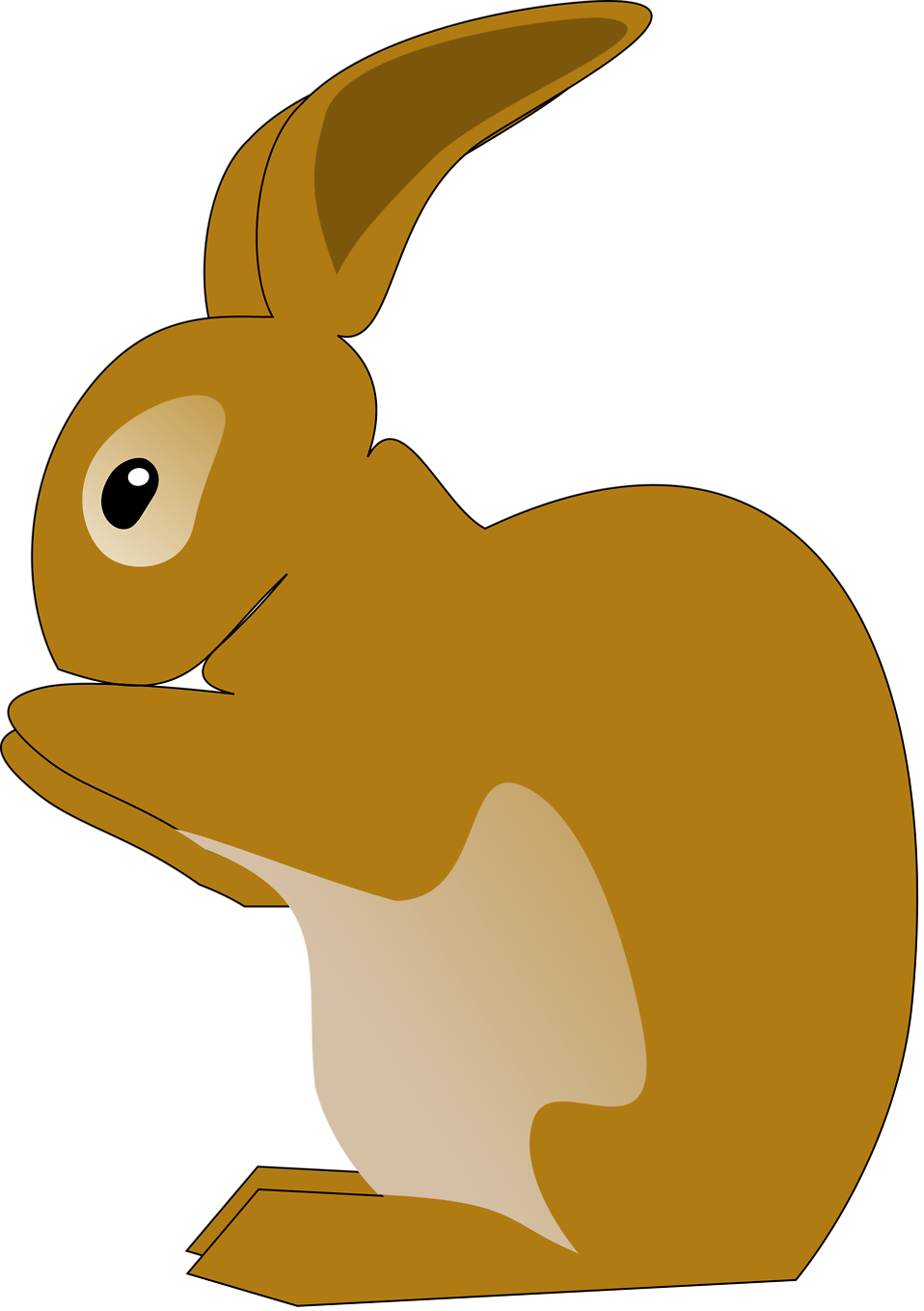 Illustration of a brown rabbit : Free Stock Photo