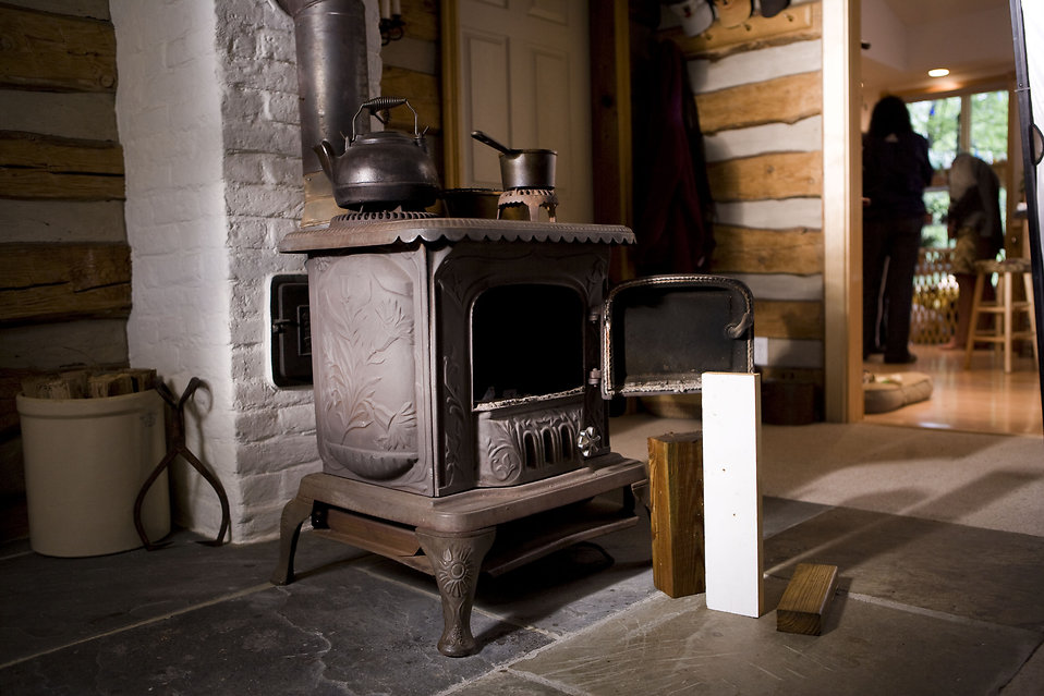 A wood burning stove in a home : Free Stock Photo