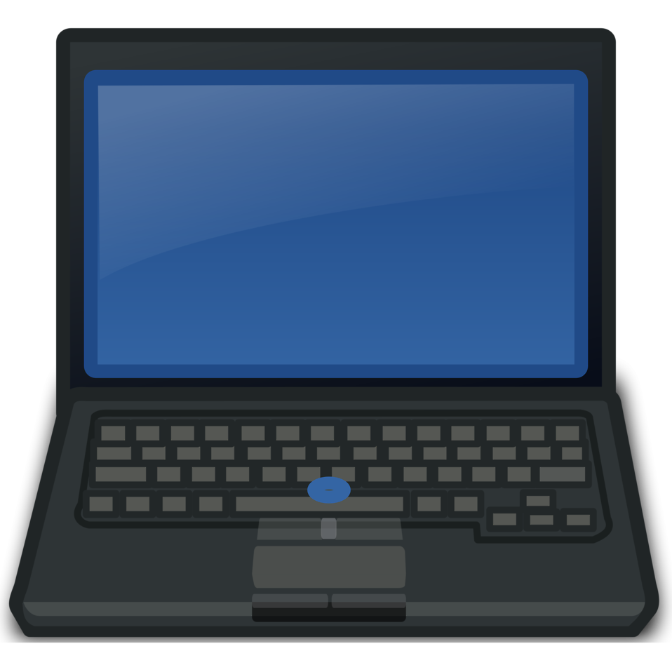 Illustration of a laptop computer : Free Stock Photo