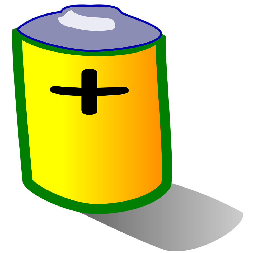 Illustration of a battery : Free Stock Photo