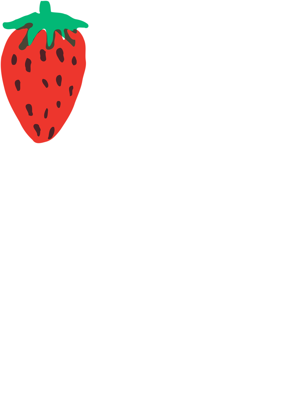 Illustration of a red strawberry : Free Stock Photo