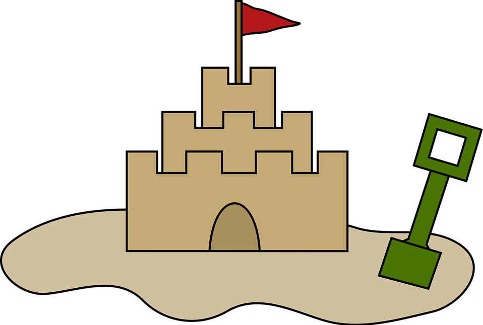 Illustration of a sand castle : Free Stock Photo