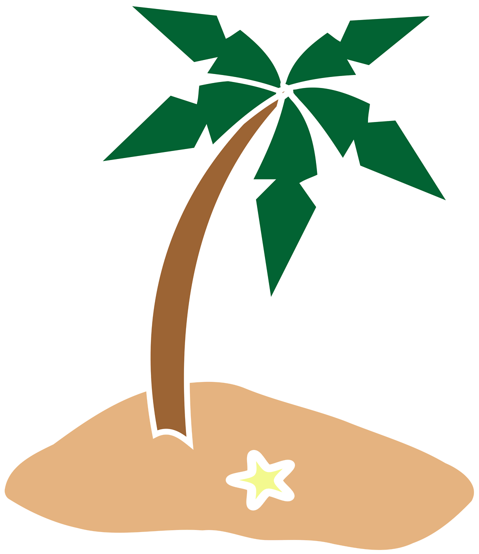 Illustration of a palm tree : Free Stock Photo