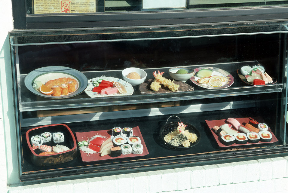 A restaurant display case : Free Stock Photo