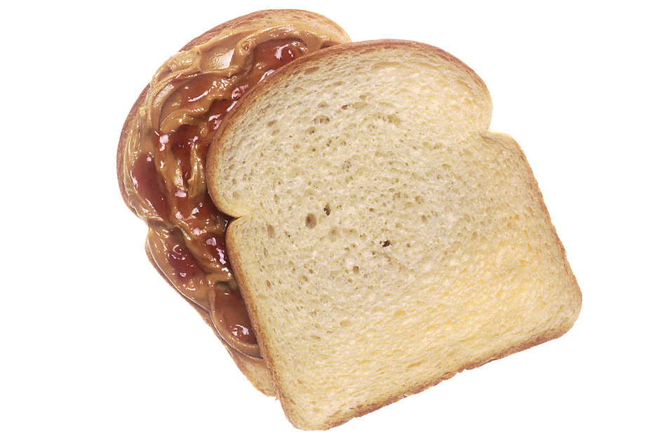 Eating A Peanut Butter And Jelly Sandwich Clipart