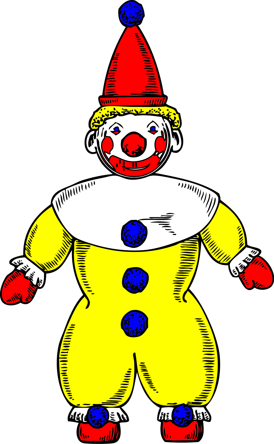 Illustration of a cartoon clown : Free Stock Photo