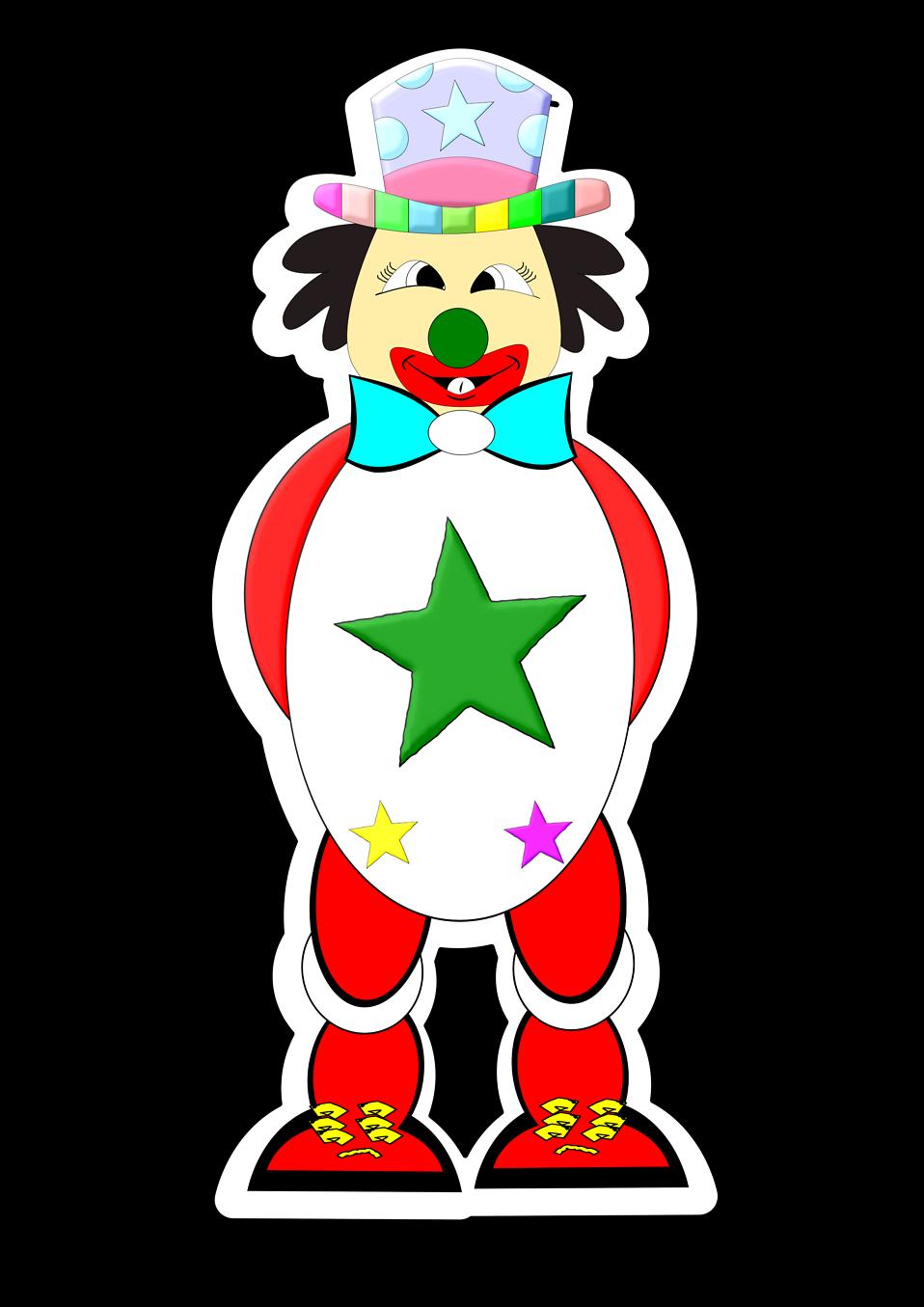 Illustration of a cartoon clown : Free Stock Photo