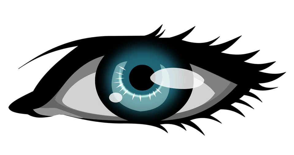 free stock photo illustration of a human eye with a transparent