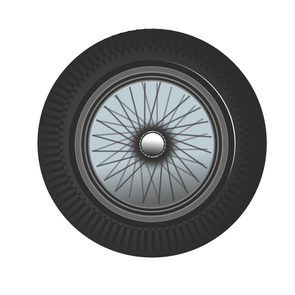 Illustration of a car tire : Free Stock Photo