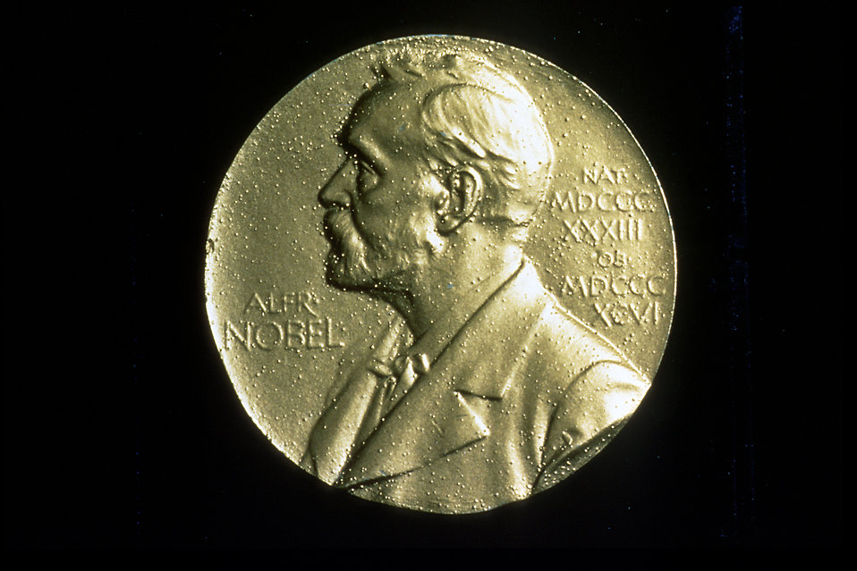 The front of a Nobel Prize medal : Free Stock Photo