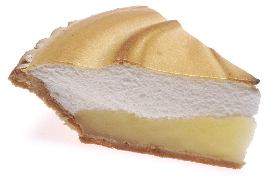 A slice of lemon meringue pie : Free Stock Photo