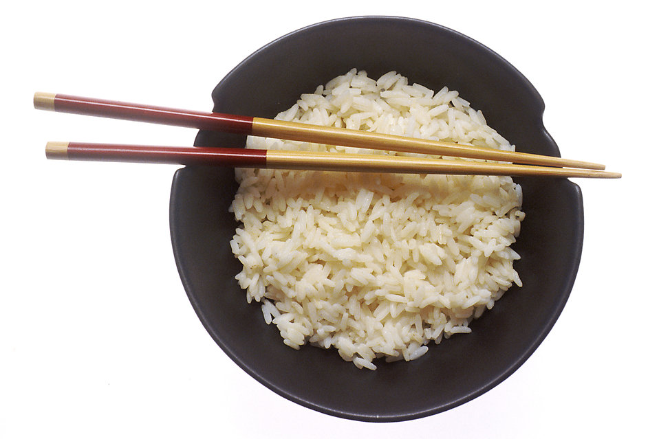 A bowl of rice with chopsticks : Free Stock Photo
