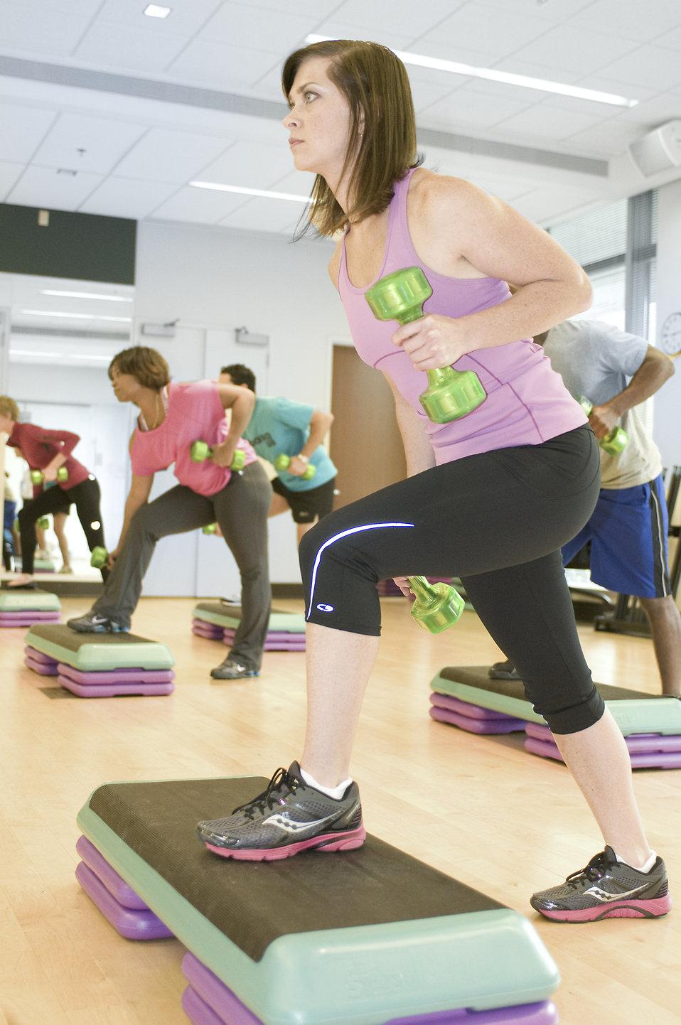 exercise free stock photo men and women performing aerobic