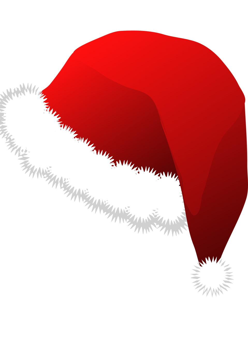 Illustration of a red santa hat : Free Stock Photo