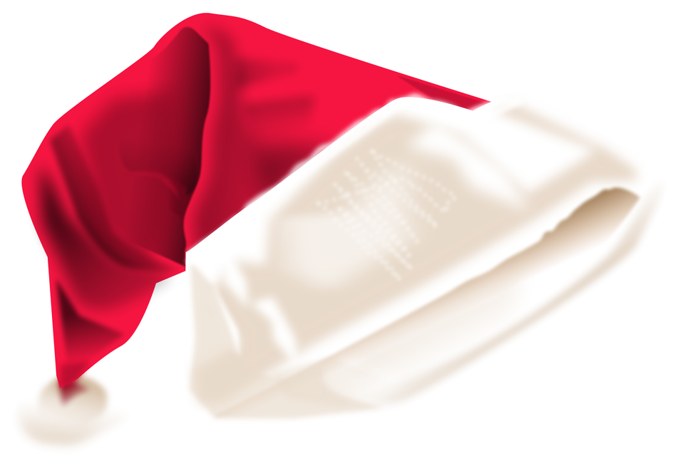 Green santa hat transparent red santa claus hat pictures to pin on
