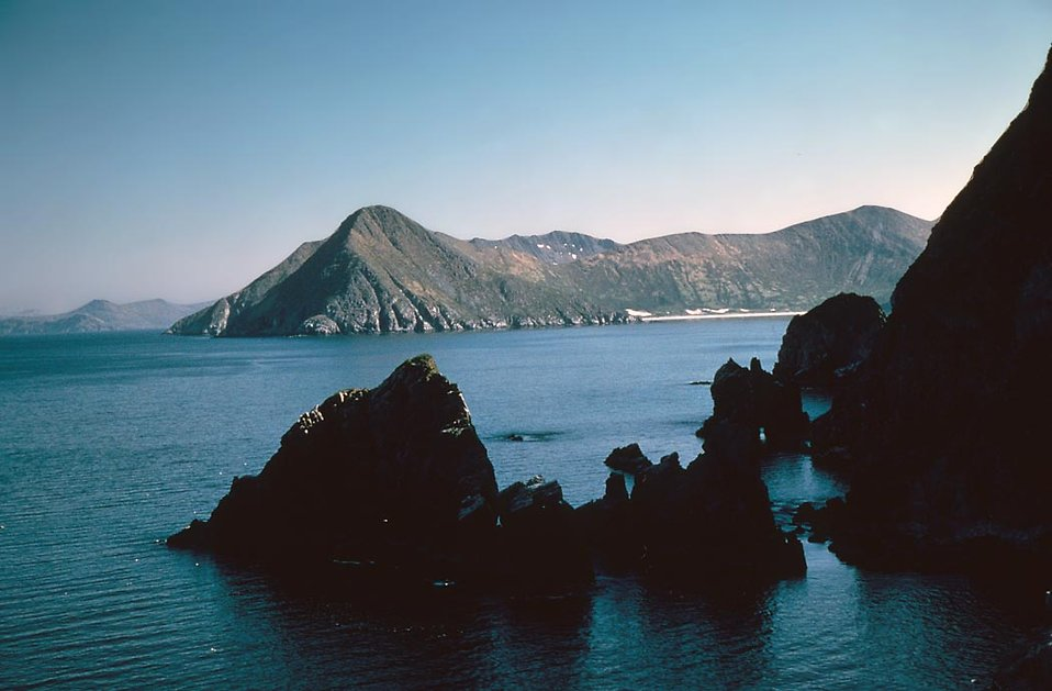 Big Koniuji Island surrounded by water : Free Stock Photo