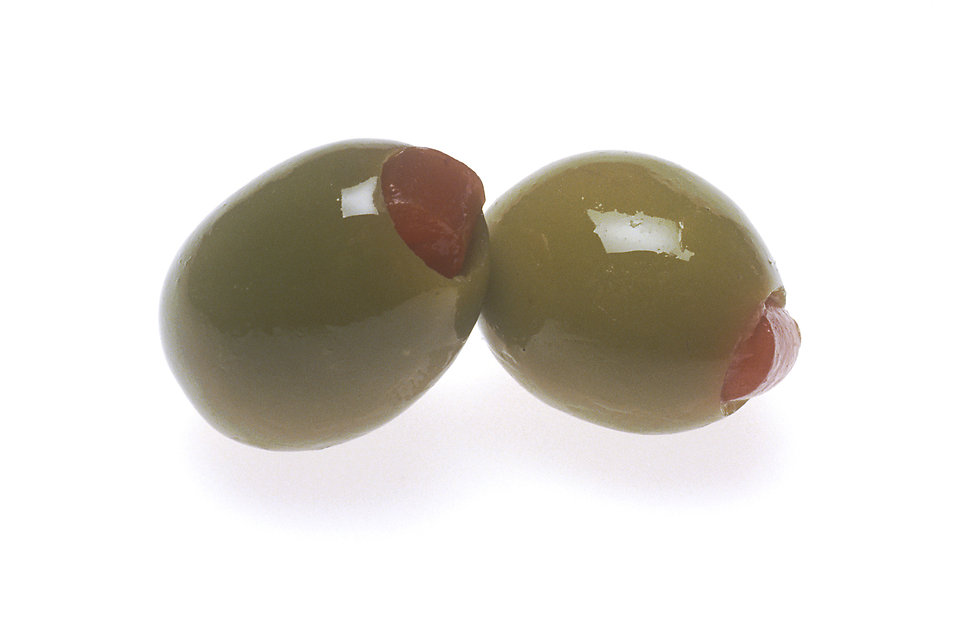 Two green olives : Free Stock Photo