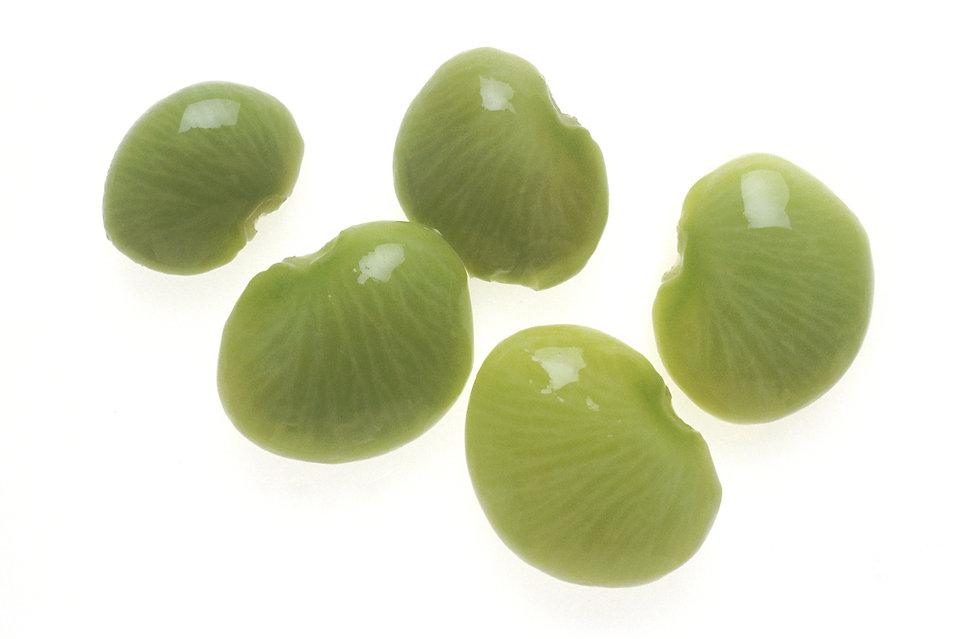 Raw lima beans on a white background : Free Stock Photo