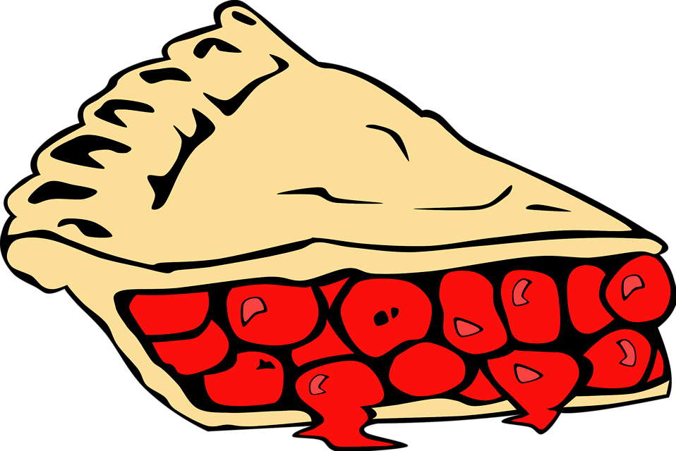Illustration of a slice of pie : Free Stock Photo
