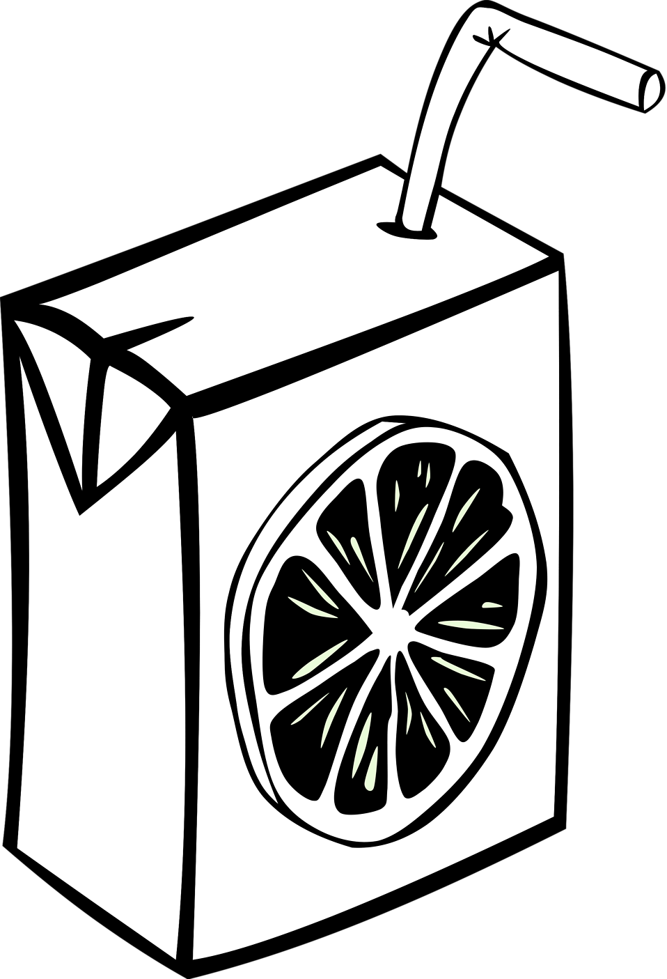 Illustration of a juice box : Free Stock Photo