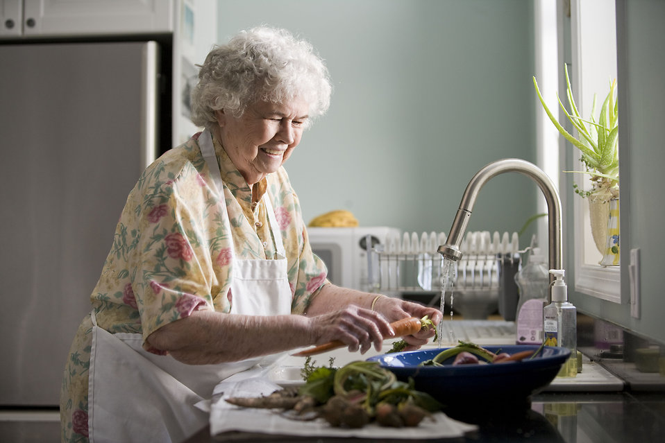Woman Free Stock Photo An Elderly Woman Washing Produce
