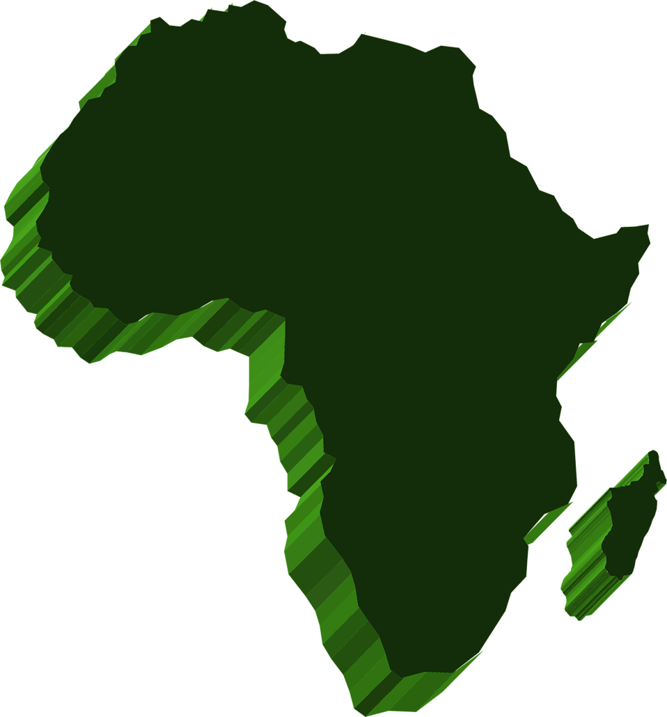 Illustrated map of Africa : Free Stock Photo