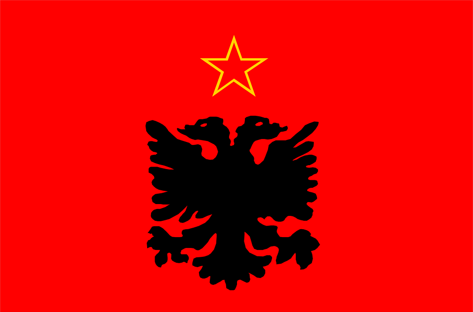 Illustrated flag of Albania : Free Stock Photo