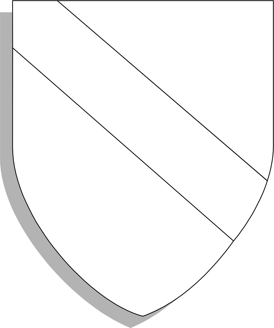Illustration of a blank shield crest : Free Stock Photo