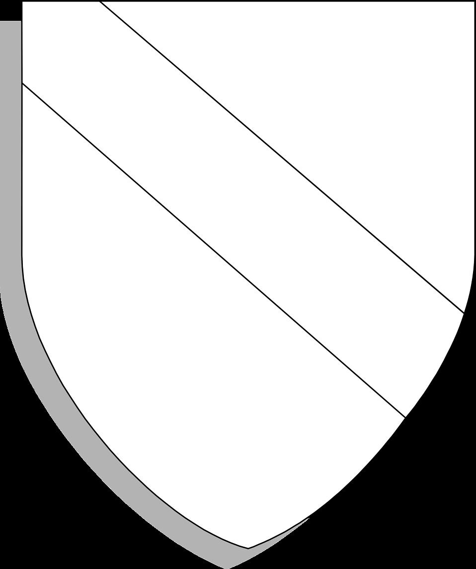 Blank Crests Shields Illustration of a blank shield