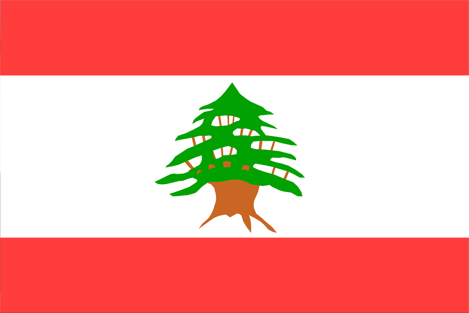 Illustrated flag of Lebanon : Free Stock Photo