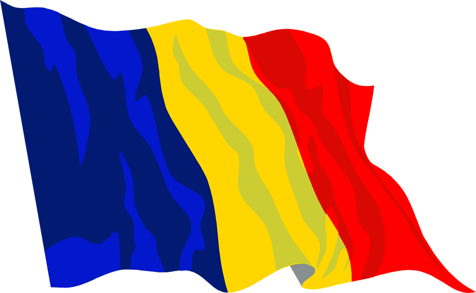 Illustrated flag of Romania : Free Stock Photo