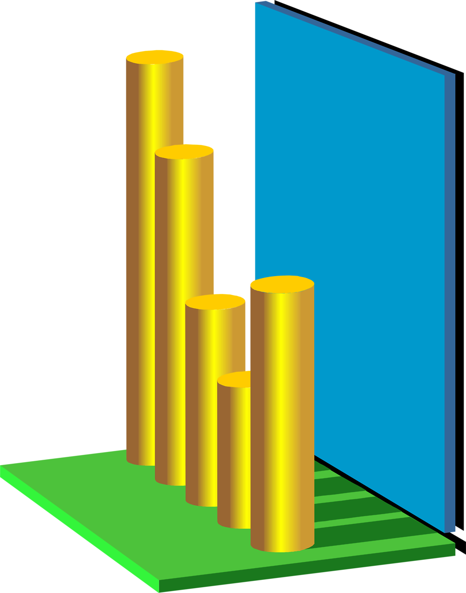 Illustration of a 3d bar graph : Free Stock Photo