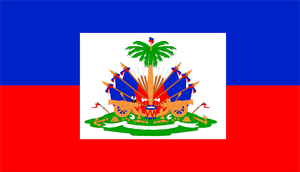 Illustrated flag of Haiti : Free Stock Photo