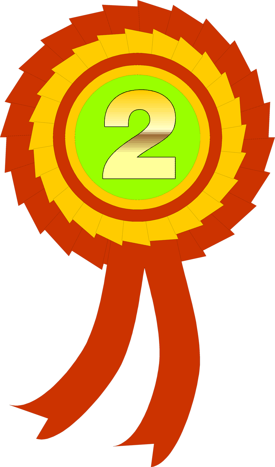 Illustration of a second place ribbon : Free Stock Photo