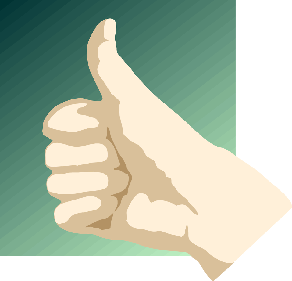 Illustration of a hand giving a thumbs up : Free Stock Photo