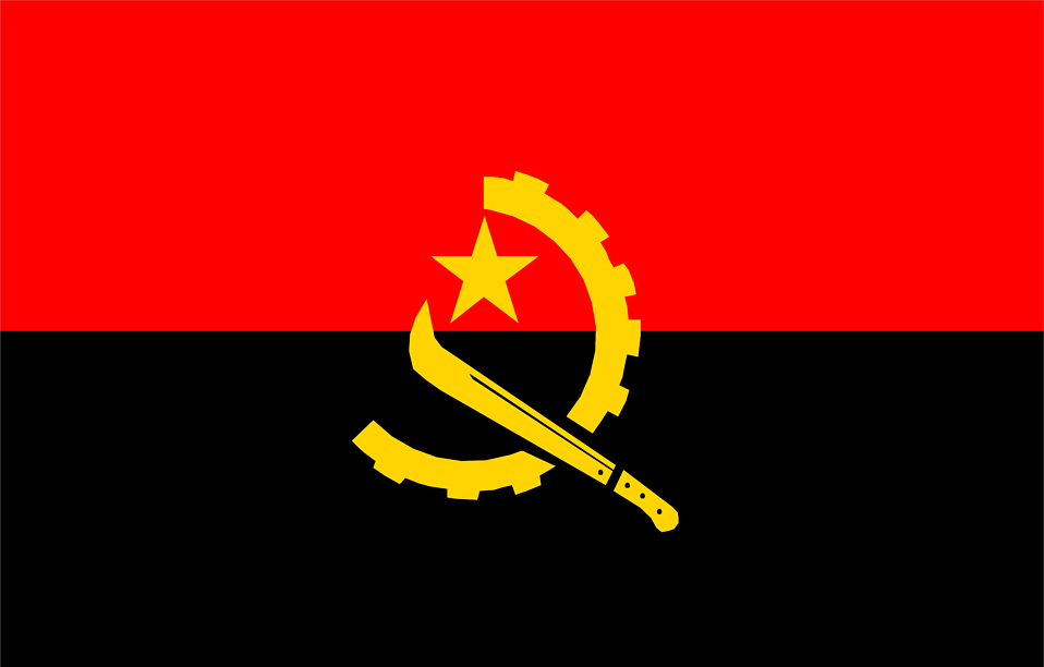 Illustrated flag of Angola : Free Stock Photo