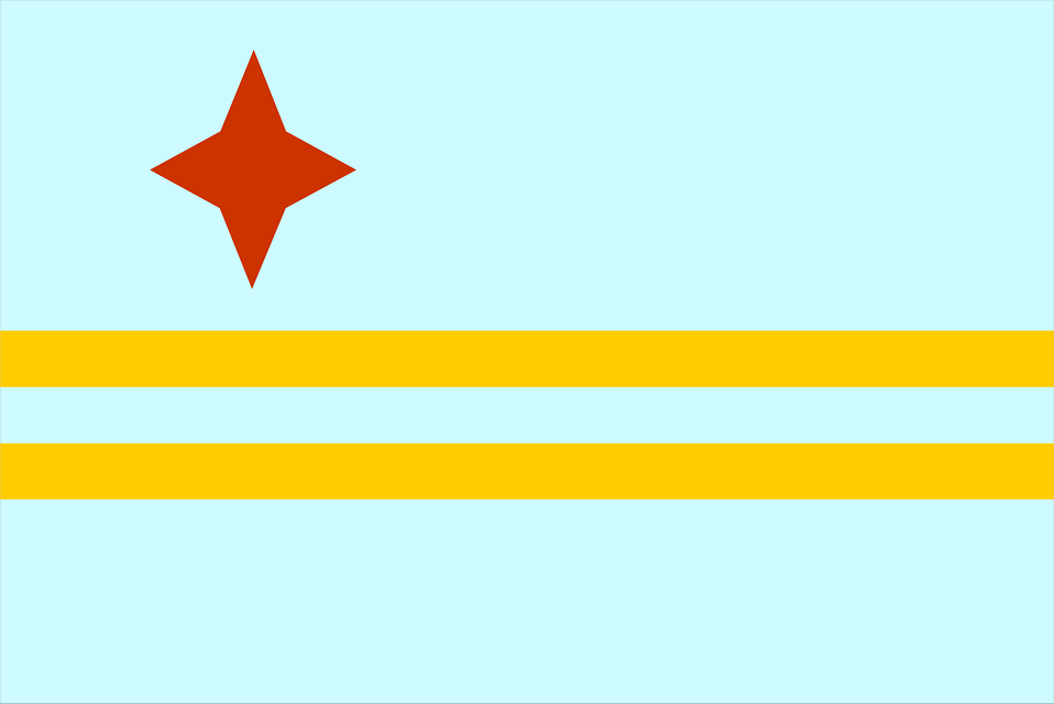 Illustrated flag of Aruba : Free Stock Photo