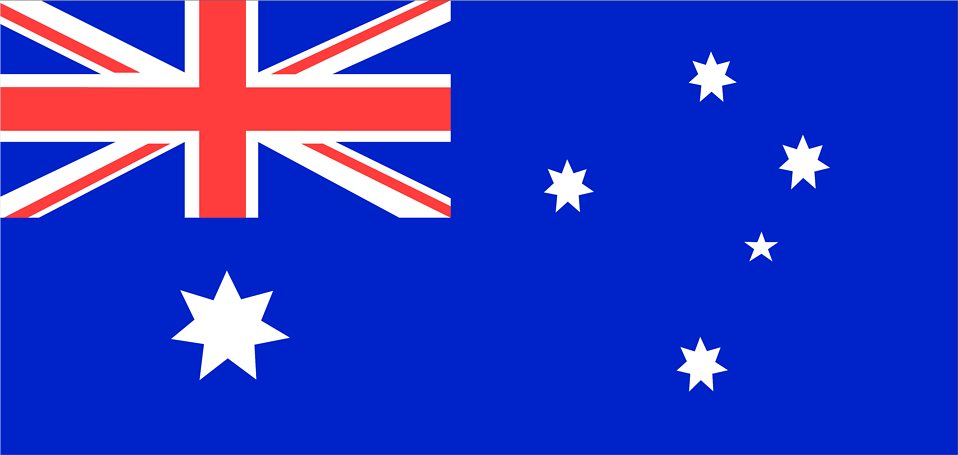 Illustrated flag of Australia : Free Stock Photo