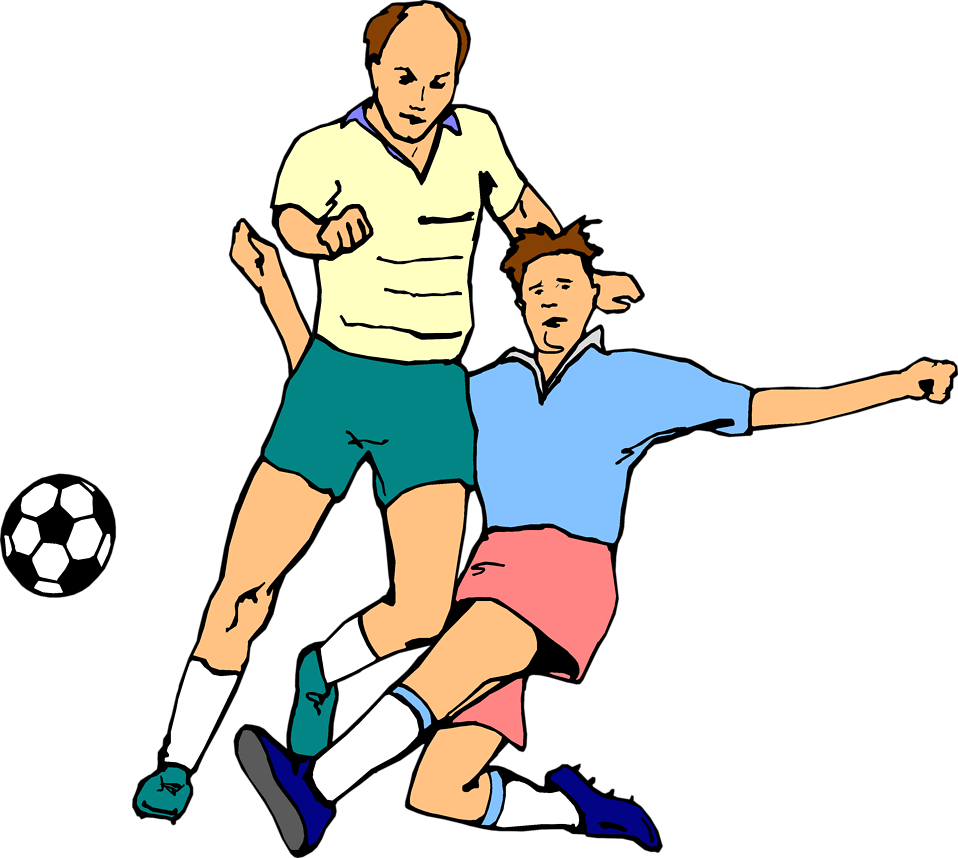 Illustration of men playing soccer : Free Stock Photo