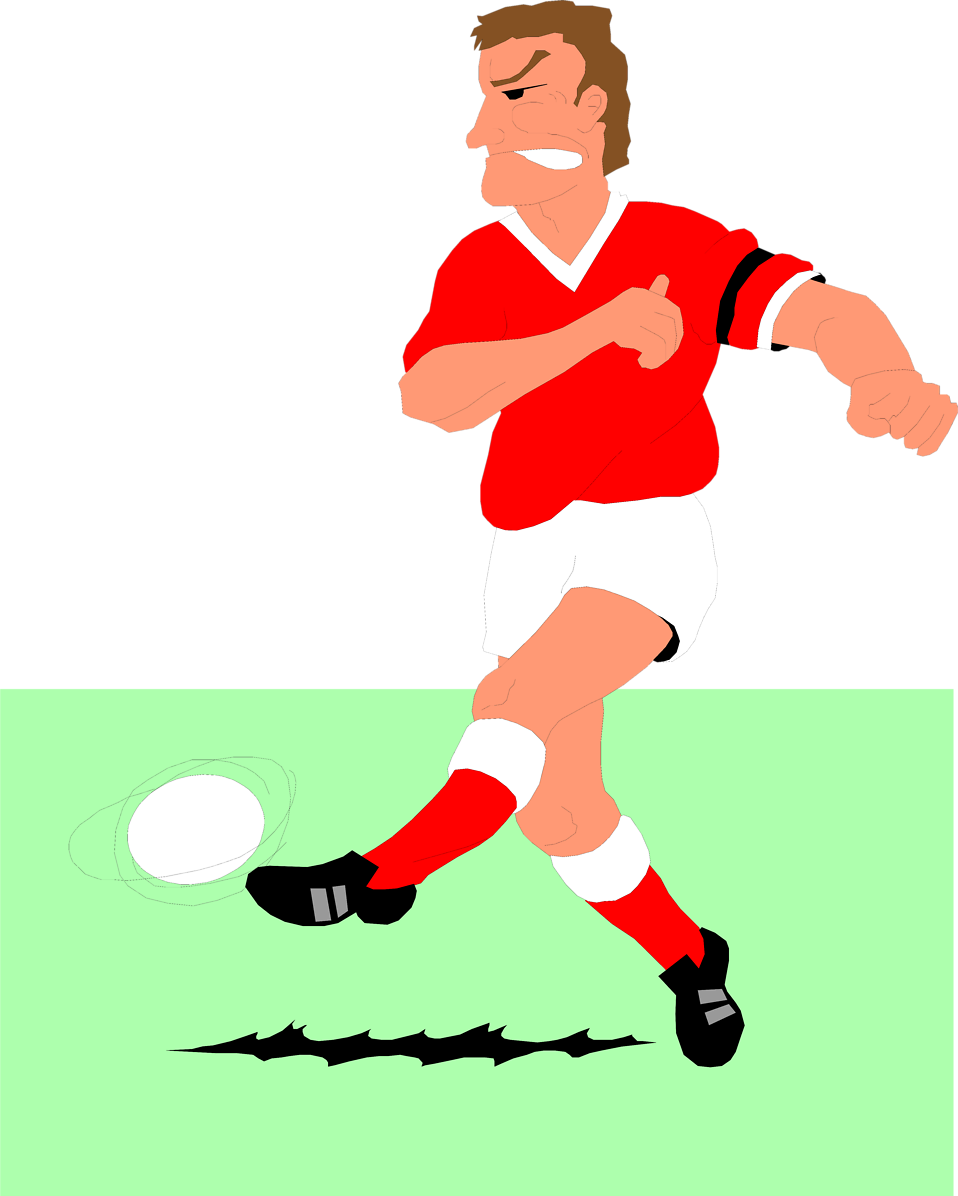 Illustration of a man playing soccer : Free Stock Photo