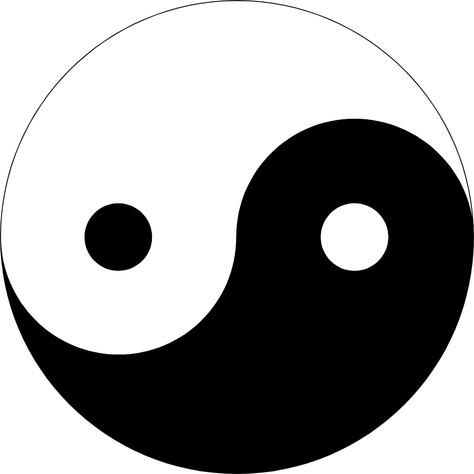 Illustration of a yin-yang symbol : Free Stock Photo
