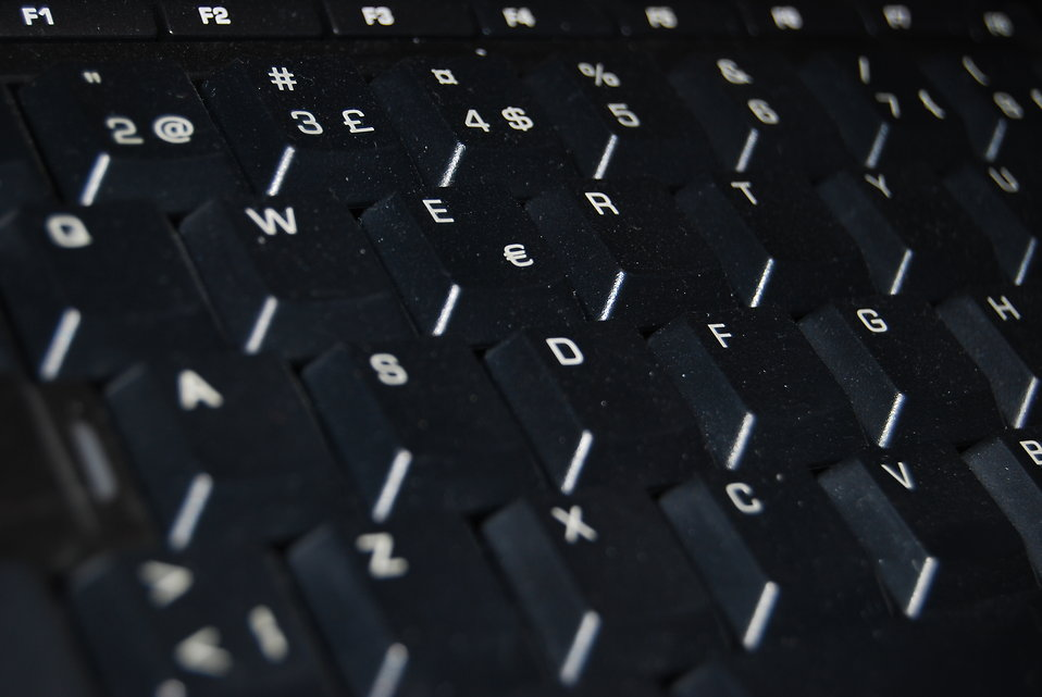 Computer keyboard : Free Stock Photo