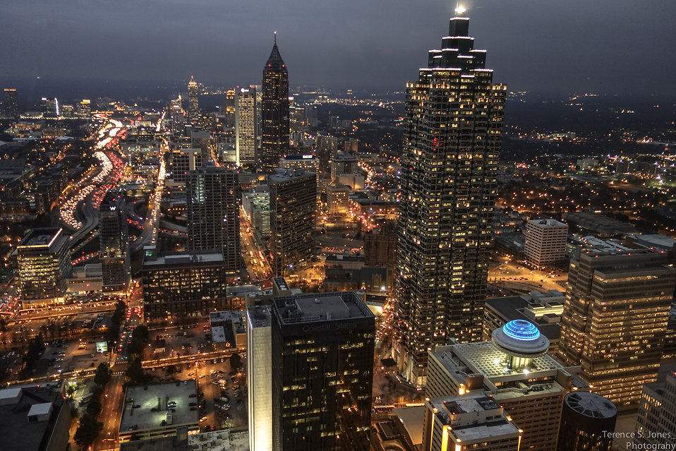 Atlanta at night : Free Stock Photo