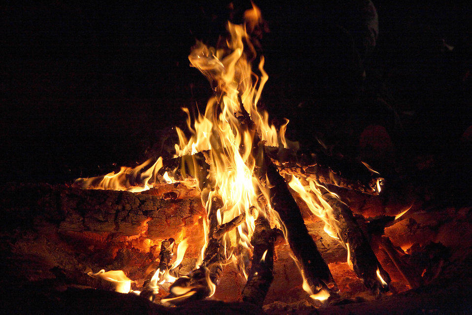 Campfire flames : Free Stock Photo