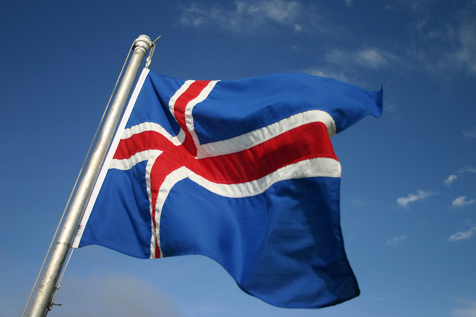 Iceland flag : Free Stock Photo