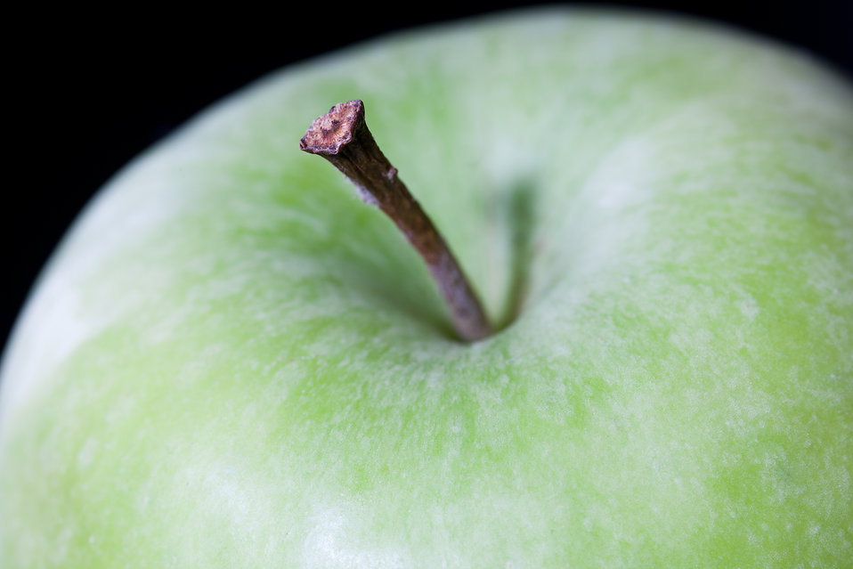 Green apple close-up : Free Stock Photo