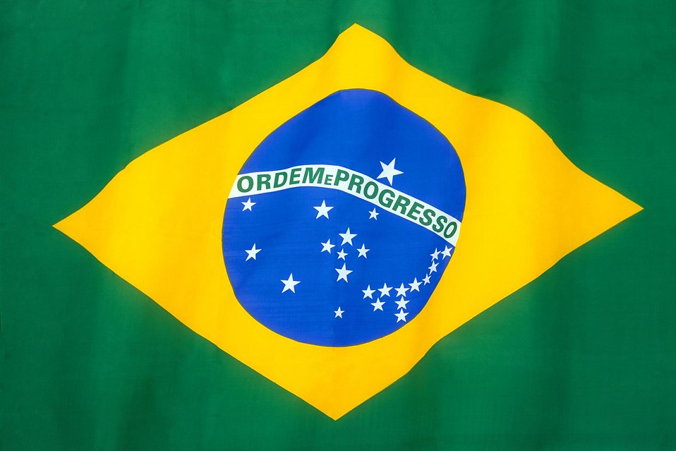 Brazilian flag : Free Stock Photo