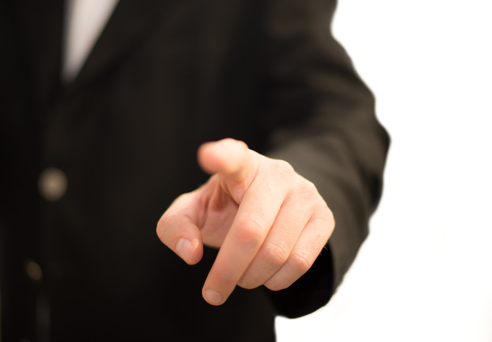 Business man pointing : Free Stock Photo