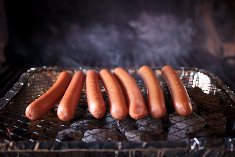 Hotdogs on a grill : Free Stock Photo